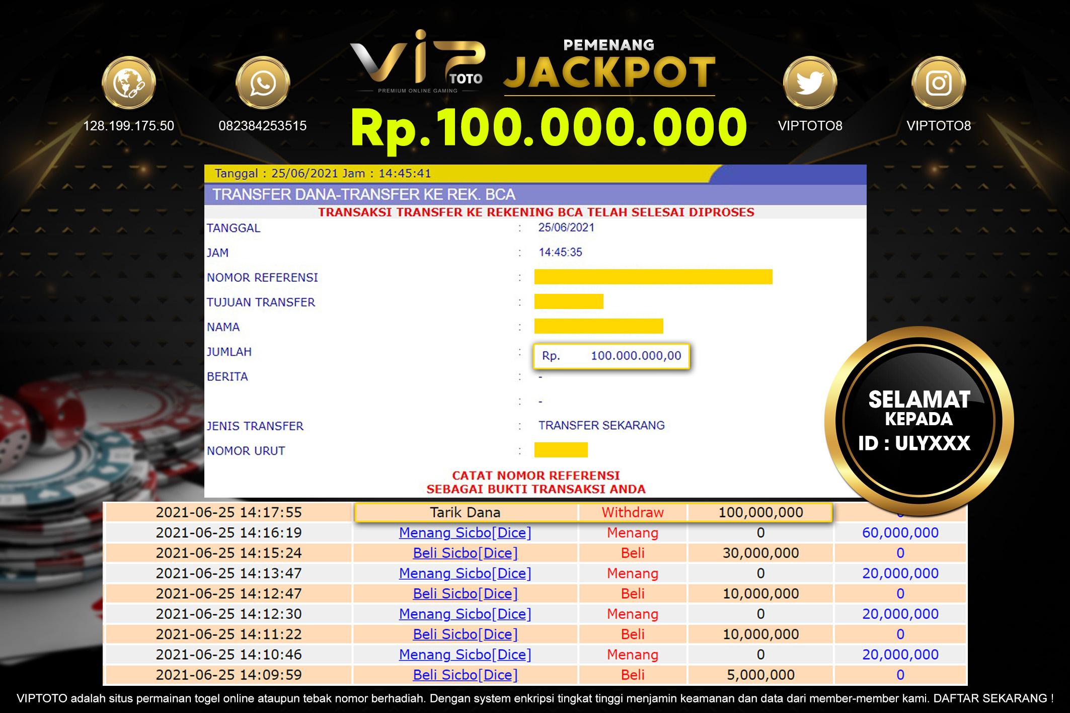 VIPToto Situs Judi Jackpot Terbesar